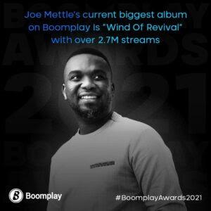 Joe Mettle Boomplay achievement 1