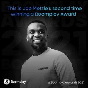 Joe Mettle Boomplay achievement 2