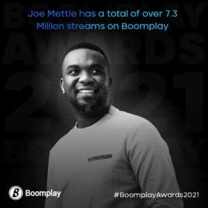 Joe Mettle Boomplay achievement 3